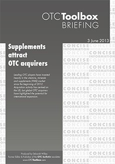 Supplements attract OTC acquirers