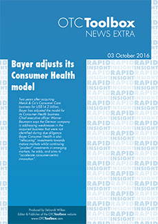 Bayer adjusts its Consumer Health model