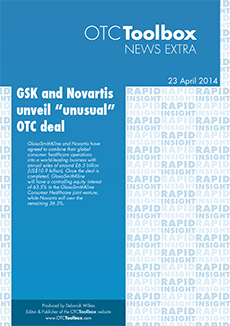 "GSK and Novartis unveil ""unusual"" OTC deal"